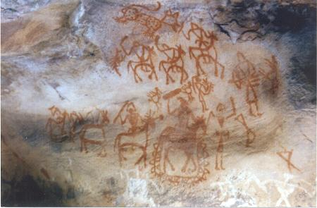 Travel India.Bhimbetka Caves