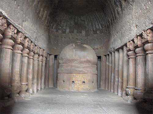 Travel India.Kanheri Caves.Main Vihara